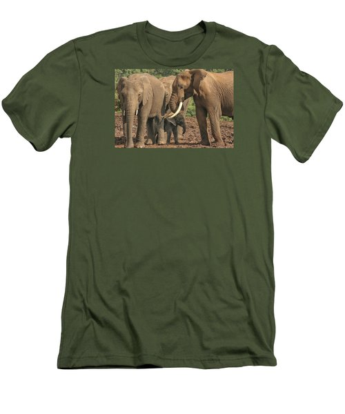 Men's T-Shirt (Slim Fit) featuring the photograph At The Salt Lick by Gary Hall