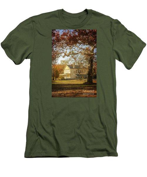 Atsion Mansion Men's T-Shirt (Slim Fit) by Debra Fedchin