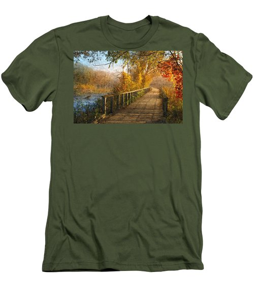 Atumn Emerging - Oil Paint Effect Men's T-Shirt (Athletic Fit)