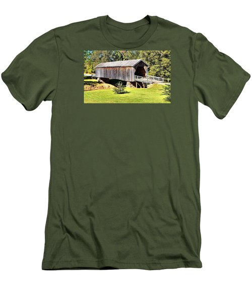 Auchumpkee Creek Covered Bridge Men's T-Shirt (Athletic Fit)