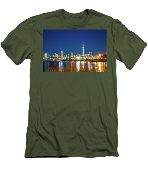 Auckland At Dusk Men's T-Shirt (Athletic Fit)