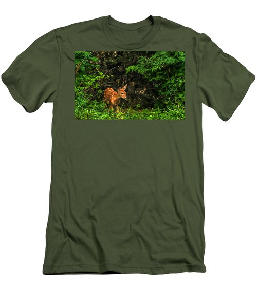 Men's T-Shirt (Slim Fit) featuring the photograph August Fawn by Trey Foerster
