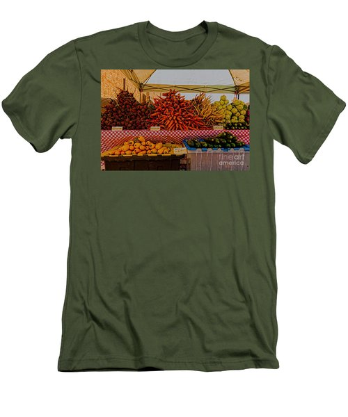 Men's T-Shirt (Slim Fit) featuring the photograph August Vegetables by Trey Foerster
