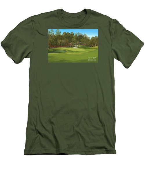 Augusta 11 And12th Hole Men's T-Shirt (Slim Fit) by Tim Gilliland
