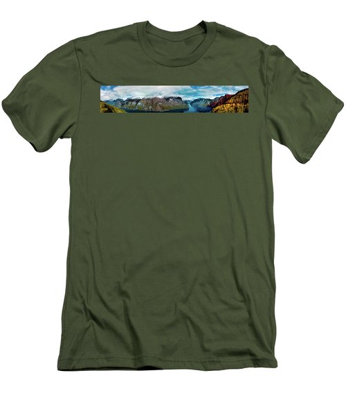 Aurlandsfjorden Panorama Revisited Men's T-Shirt (Athletic Fit)