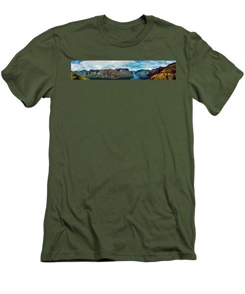 Aurlandsfjorden Panorama Revisited Men's T-Shirt (Athletic Fit)