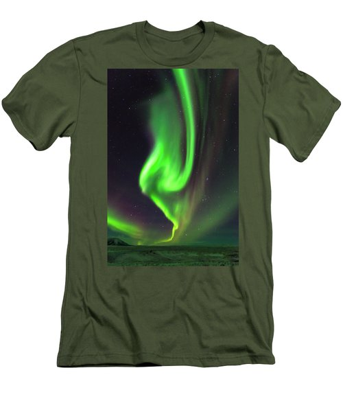 Aurora Burst Men's T-Shirt (Slim Fit) by Allen Biedrzycki