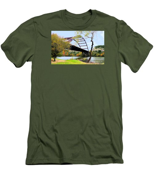 Austin Pennybacker Bridge In Autumn Men's T-Shirt (Athletic Fit)