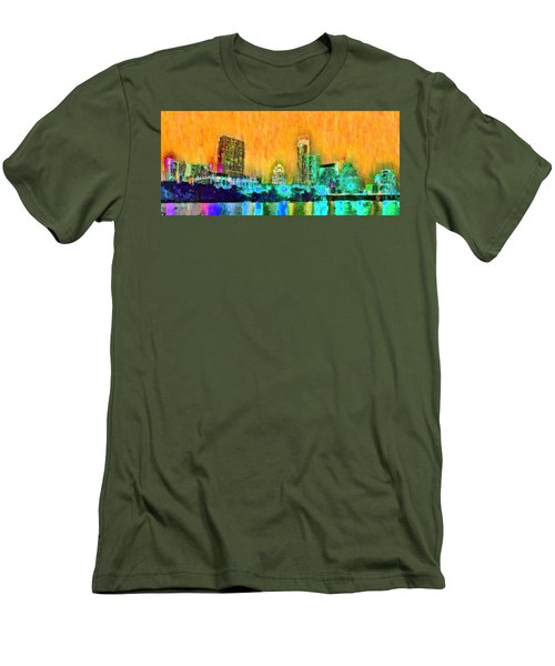Austin Texas Skyline 108 - Da Men's T-Shirt (Athletic Fit)