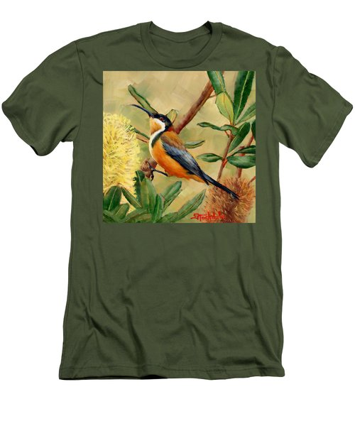 Australian Eastern Spinebill  Men's T-Shirt (Slim Fit)