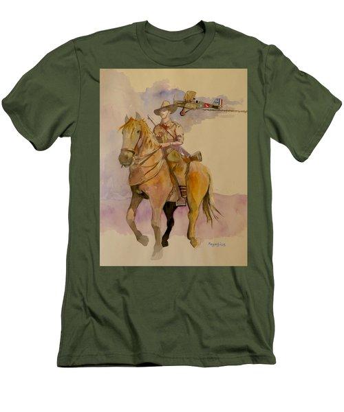 Australian Light Horse Regiment. Men's T-Shirt (Athletic Fit)