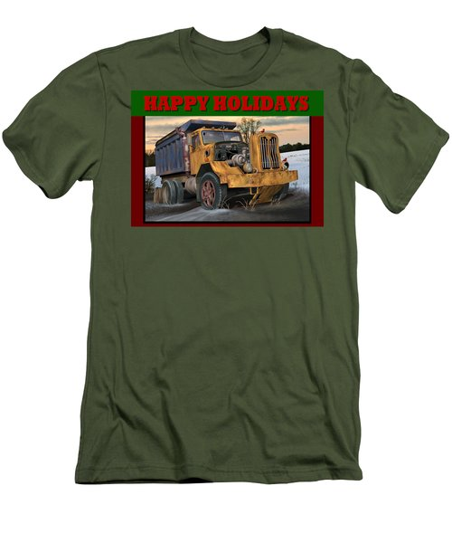 Autocar Happy Holidays Men's T-Shirt (Slim Fit) by Stuart Swartz