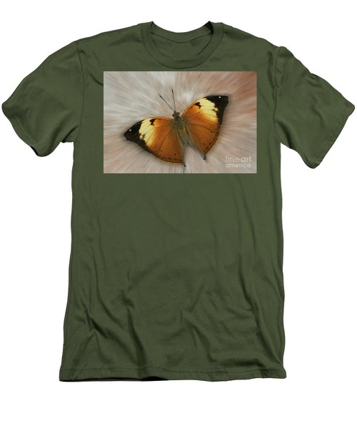Autumn Leaf Butterfly Zoom Men's T-Shirt (Athletic Fit)