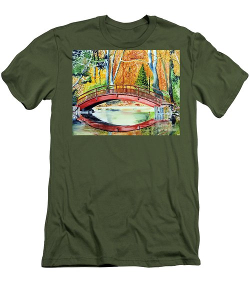 Men's T-Shirt (Slim Fit) featuring the painting Autumn Beauty by Tom Riggs