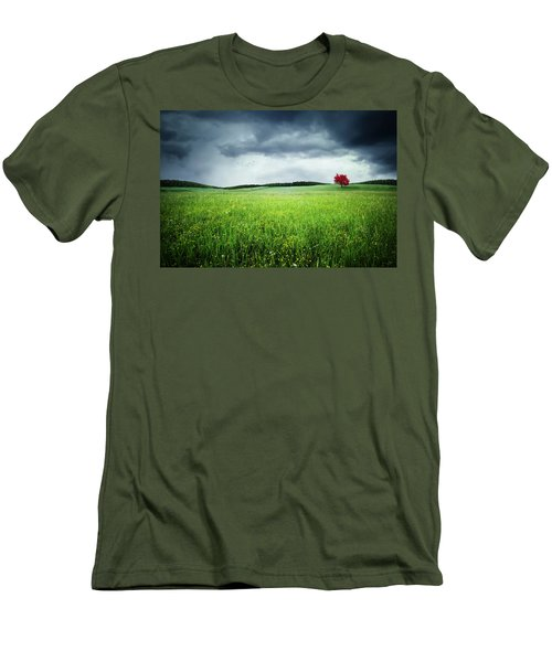 Men's T-Shirt (Slim Fit) featuring the photograph Autumn by Bess Hamiti