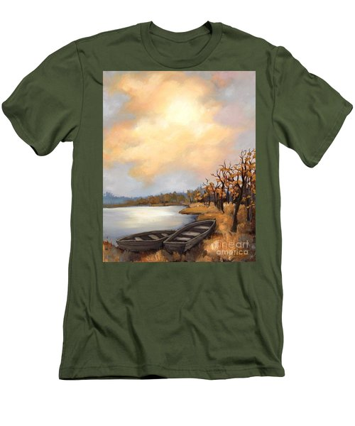 Autumn Boats Men's T-Shirt (Athletic Fit)