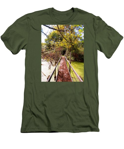 Autumn Bridge Men's T-Shirt (Athletic Fit)