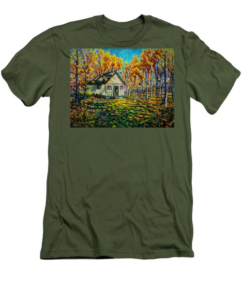 Autumn Cabin Trip Men's T-Shirt (Athletic Fit)