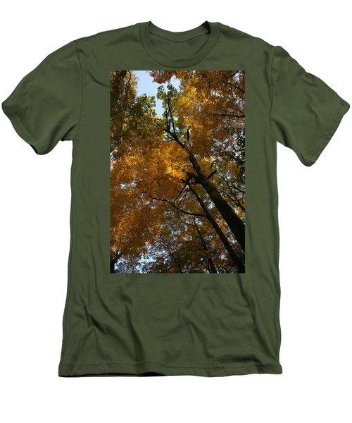 Men's T-Shirt (Slim Fit) featuring the photograph Autumn Canopy by Shari Jardina