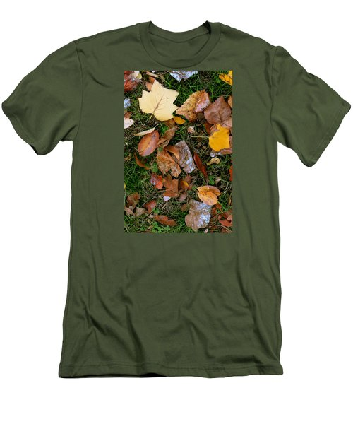 Autumn Carpet 001 Men's T-Shirt (Slim Fit) by Dorin Adrian Berbier