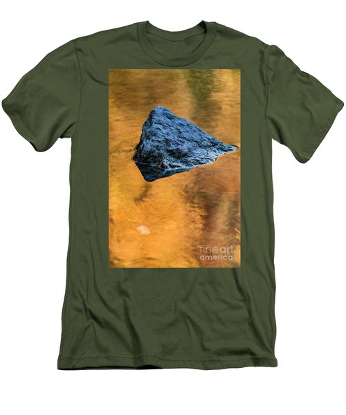 Men's T-Shirt (Slim Fit) featuring the photograph Autumn Color On Little River - D009990 by Daniel Dempster