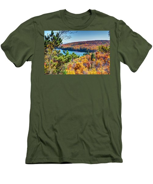 Autumn Colors Overlooking Lax Lake Tettegouche State Park II Men's T-Shirt (Athletic Fit)