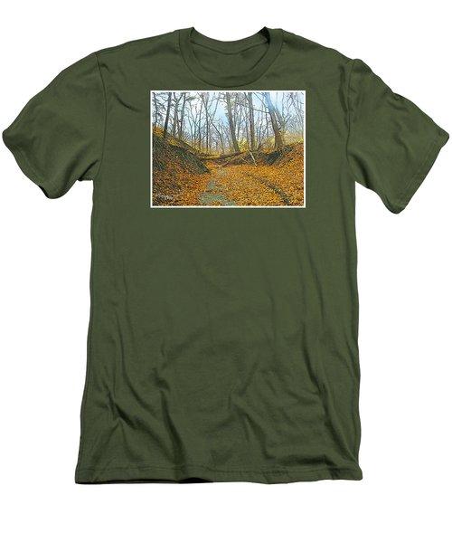 Autumn Creekbed Men's T-Shirt (Athletic Fit)