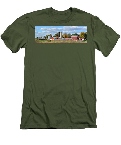 Autumn Elk Farm Men's T-Shirt (Slim Fit) by Bonfire Photography