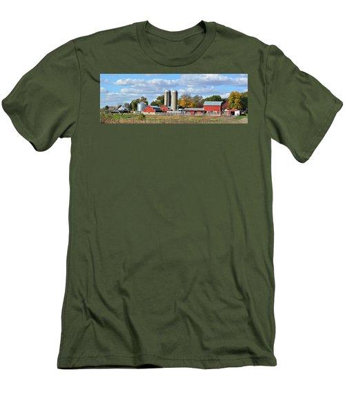 Autumn Elk Farm Men's T-Shirt (Athletic Fit)
