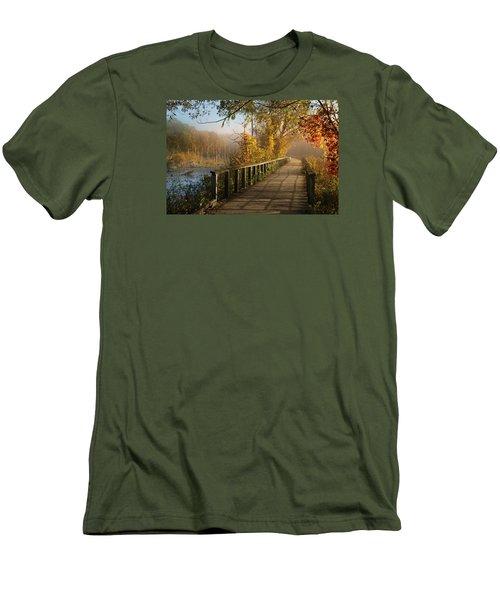 Autumn Emerging Men's T-Shirt (Slim Fit) by Rob Blair