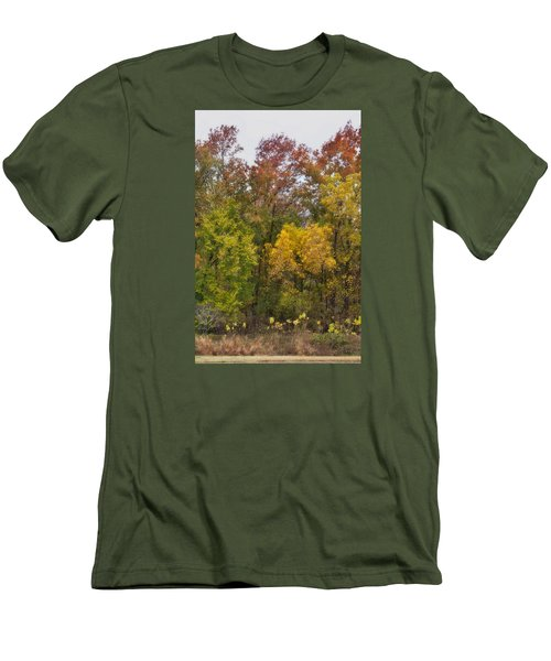 Men's T-Shirt (Slim Fit) featuring the photograph Autumn Explosion by Joan Bertucci