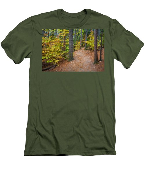 Men's T-Shirt (Slim Fit) featuring the photograph Autumn Fall Foliage In New England by Ranjay Mitra