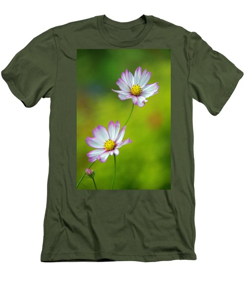 Men's T-Shirt (Slim Fit) featuring the photograph Autumn Flowers by Byron Varvarigos
