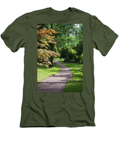 Men's T-Shirt (Athletic Fit) featuring the photograph Autumn Forest Path by Scott Lyons