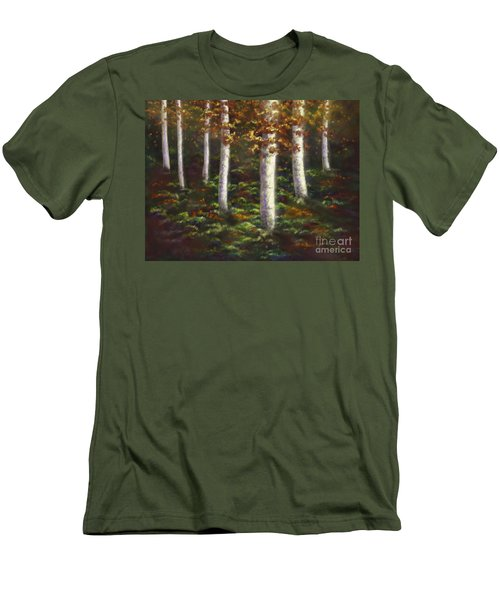 Men's T-Shirt (Slim Fit) featuring the digital art Autumn Ghosts by Amyla Silverflame