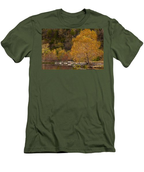 Men's T-Shirt (Slim Fit) featuring the photograph Autumn Glory In Beaver's Bend by Tamyra Ayles