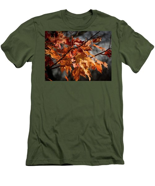 Autumn Gray Men's T-Shirt (Slim Fit) by Kimberly Mackowski
