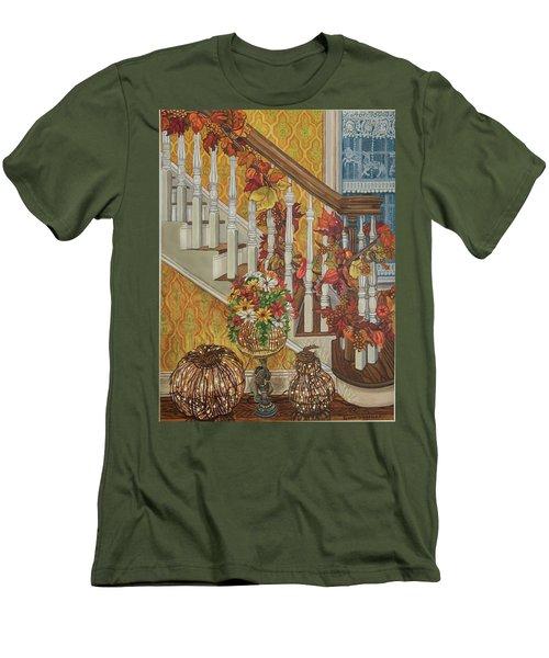 Autumn Hues Men's T-Shirt (Slim Fit) by Bonnie Siracusa