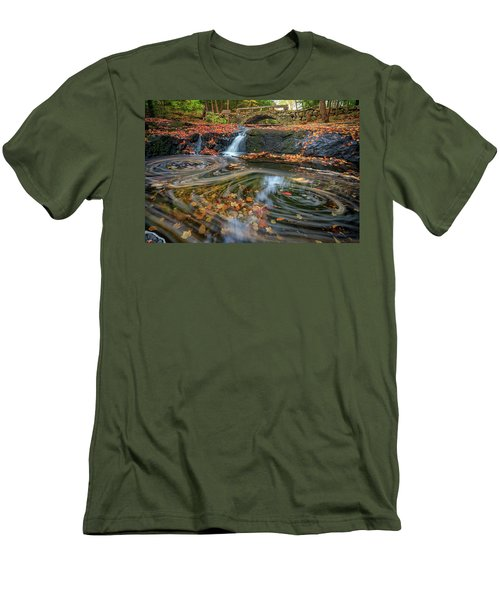 Men's T-Shirt (Athletic Fit) featuring the photograph Autumn In Hallowell by Rick Berk