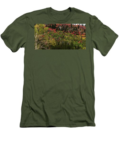 Autumn In Idaho Men's T-Shirt (Slim Fit) by Yeates Photography