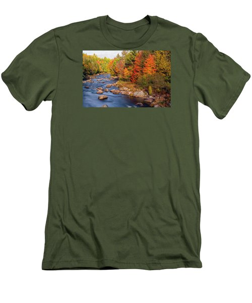 Autumn In New Hampshire Men's T-Shirt (Slim Fit) by Betty Denise