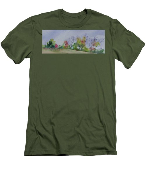 Autumn In Rural Ohio Men's T-Shirt (Slim Fit) by Mary Haley-Rocks