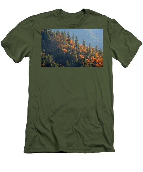Autumn In The Feather River Canyon Men's T-Shirt (Slim Fit) by AJ Schibig