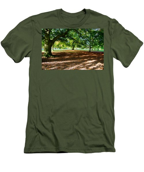 Autumn In The Park Men's T-Shirt (Slim Fit) by Colin Rayner