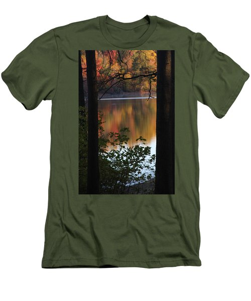 Men's T-Shirt (Athletic Fit) featuring the photograph Autumn Lake by Vadim Levin