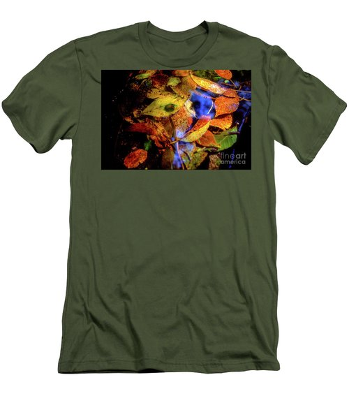 Autumn Leaf Men's T-Shirt (Slim Fit) by Tatsuya Atarashi