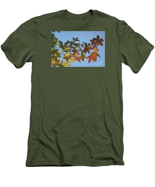 Men's T-Shirt (Slim Fit) featuring the photograph Autumn Leaves 3 by Jean Bernard Roussilhe