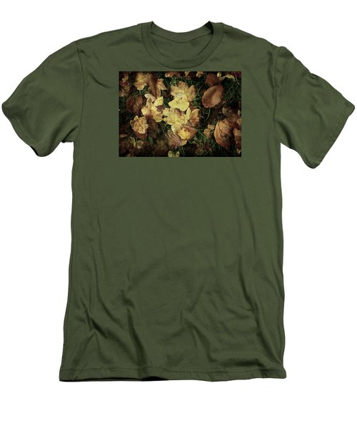 Autumn Leaves Are Falling Down... Men's T-Shirt (Slim Fit) by Vittorio Chiampan