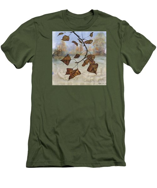 Autumn Leaves Men's T-Shirt (Slim Fit) by Carolyn Doe