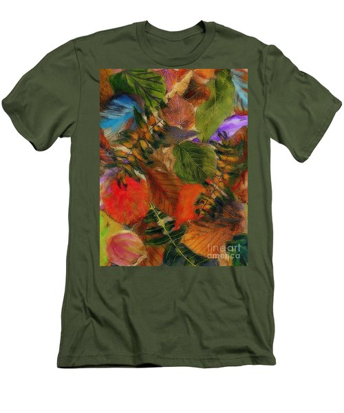 Men's T-Shirt (Slim Fit) featuring the digital art Autumn Leaves by Klara Acel